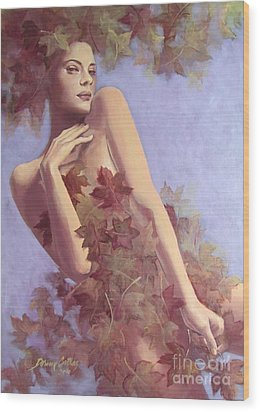 Fall...in Love... Wood Print by Dorina  Costras