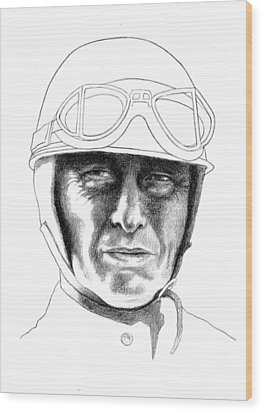 Fangio Wood Print by Diane Fine