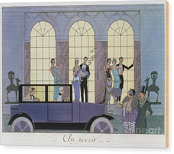 Farewell Wood Print by Georges Barbier