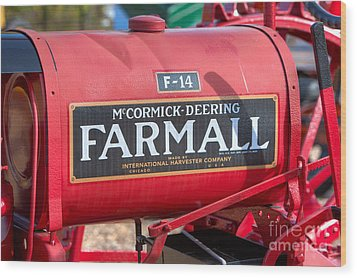 Farmall F-14 Tractor I Wood Print by Clarence Holmes