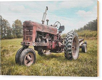 Farmall Tractor Dream - Farm Machinary - Industrial Decor Wood Print by Gary Heller