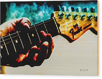 Fender Strat Wood Print by Bob Orsillo