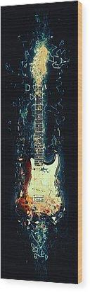Fender Strat Wood Print by Taylan Soyturk