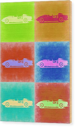 Ferrari Testarossa Pop Art 2 Wood Print by Naxart Studio