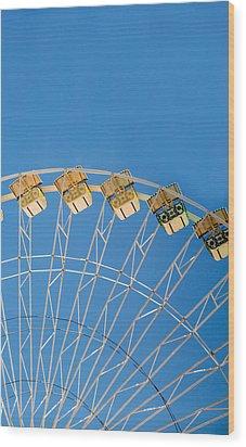 Ferris Wheel 2 Wood Print by Rebecca Cozart