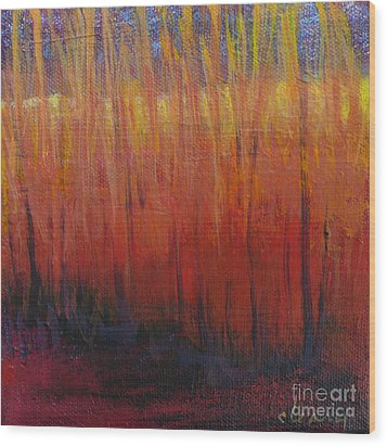 Field Of Dreams Wood Print by Melody Cleary