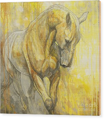 Fields Of Gold Wood Print by Silvana Gabudean