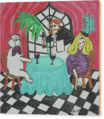 Fifi's Night Out Wood Print by Diane Pape