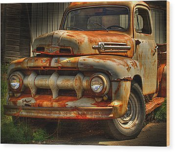Fifty Two Ford Wood Print by Thomas Young