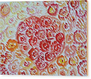 Fioritura Amore Wood Print by Sonali Gangane