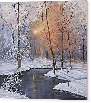 Fire And Ice Wood Print by Julie Townsend