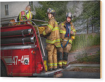 Firefighting - Only You Can Prevent Fires Wood Print by Mike Savad