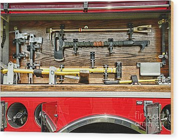 Fireman - Life Saving Tools Wood Print by Paul Ward