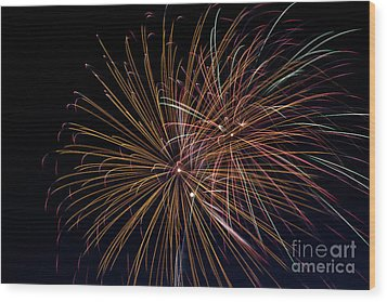 Fireworks Wood Print by Jason Meyer