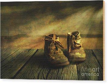 First Shoes Wood Print by Veikko Suikkanen