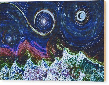 First Star Magic Sky By Jrr Wood Print by First Star Art