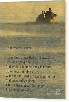 Fisherman's Prayer Wood Print by Robert Frederick