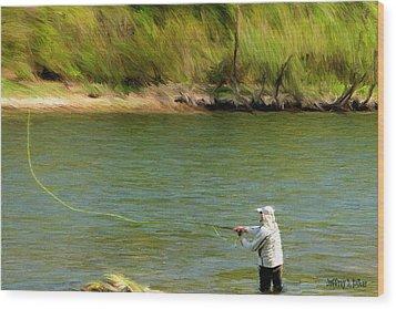 Fishing Lake Taneycomo Wood Print by Jeff Kolker