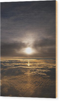 Five And A Half Mile Sunset Wood Print by Richard Reeve