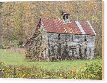 Fixer Upper Barn Wood Print by Jo Ann Tomaselli