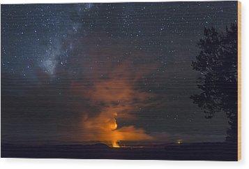 Flame Thrower Wood Print by Sean King