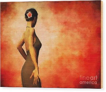 Flamenco Wood Print by John Edwards
