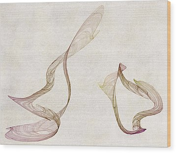 Flames Wood Print by David Ridley