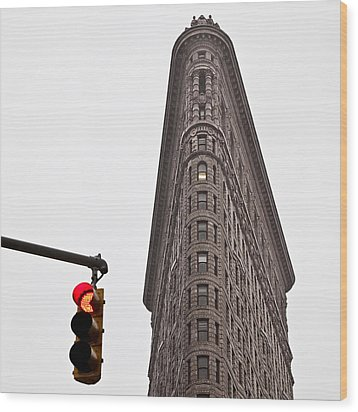 Flatiron Wood Print by Dave Bowman