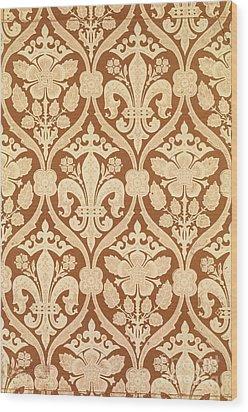 Fleur-de-lis Wood Print by Augustus Welby Pugin
