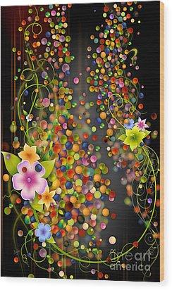 Floating Fragrances - Black Version Wood Print by Bedros Awak