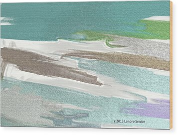 Floating On Ice Wood Print by Lenore Senior