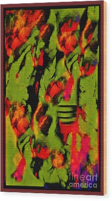 Floral Arrrangement Abstract Wood Print by John Malone