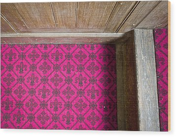 Floral Carpet Wood Print by Tom Gowanlock