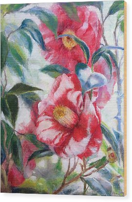 Floral Print Wood Print by Nancy Stutes