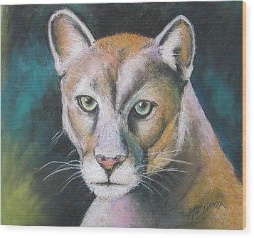 Florida Panther Wood Print by Melinda Saminski