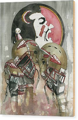 Florida State Seminoles Wood Print by Michael  Pattison