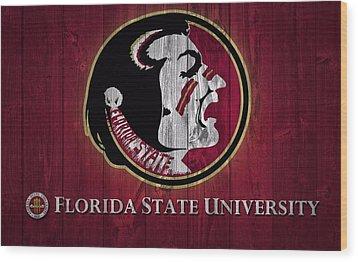 Florida State University Barn Door Wood Print by Dan Sproul