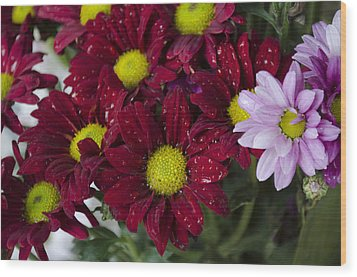 Flowers Wood Print by Ahmed Tarek Shaffik