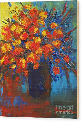 Flowers Are Always Welcome IIi Wood Print by Patricia Awapara