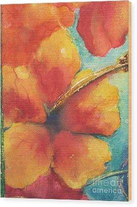 Flowers In Bloom Wood Print by Chrisann Ellis