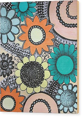Flowers Paradise Wood Print by Home Art