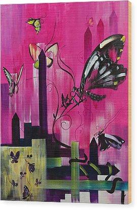Flutter Wood Print by Gregory Fricker