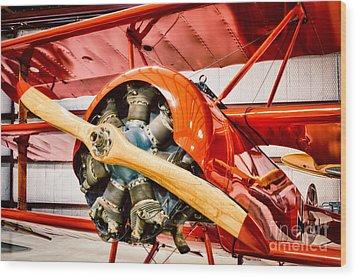 Fokker Dr.1 Wood Print by Inge Johnsson