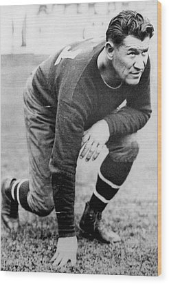 Football Player Jim Thorpe Wood Print by Underwood Archives