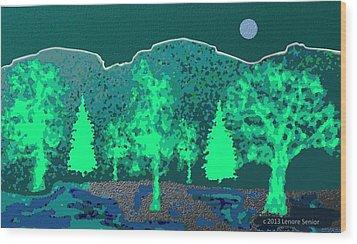 Footsteps Wood Print by Lenore Senior