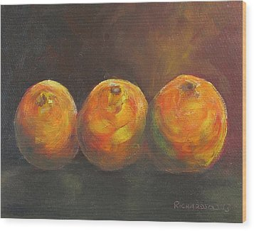 For The Love Of Three Oranges Wood Print by Susan Richardson