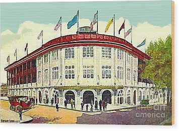 Forbes Field In Pittsburgh Pa C.1910 Wood Print by Dwight Goss