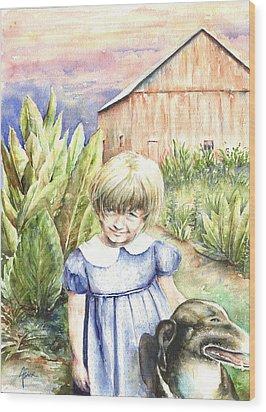Forbes Road Farm Wood Print by Arthur Fix