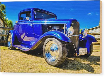 Ford Coupe Hot Rod Wood Print by motography aka Phil Clark