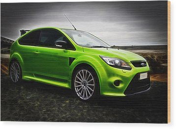 Ford Focus Rs Wood Print by motography aka Phil Clark